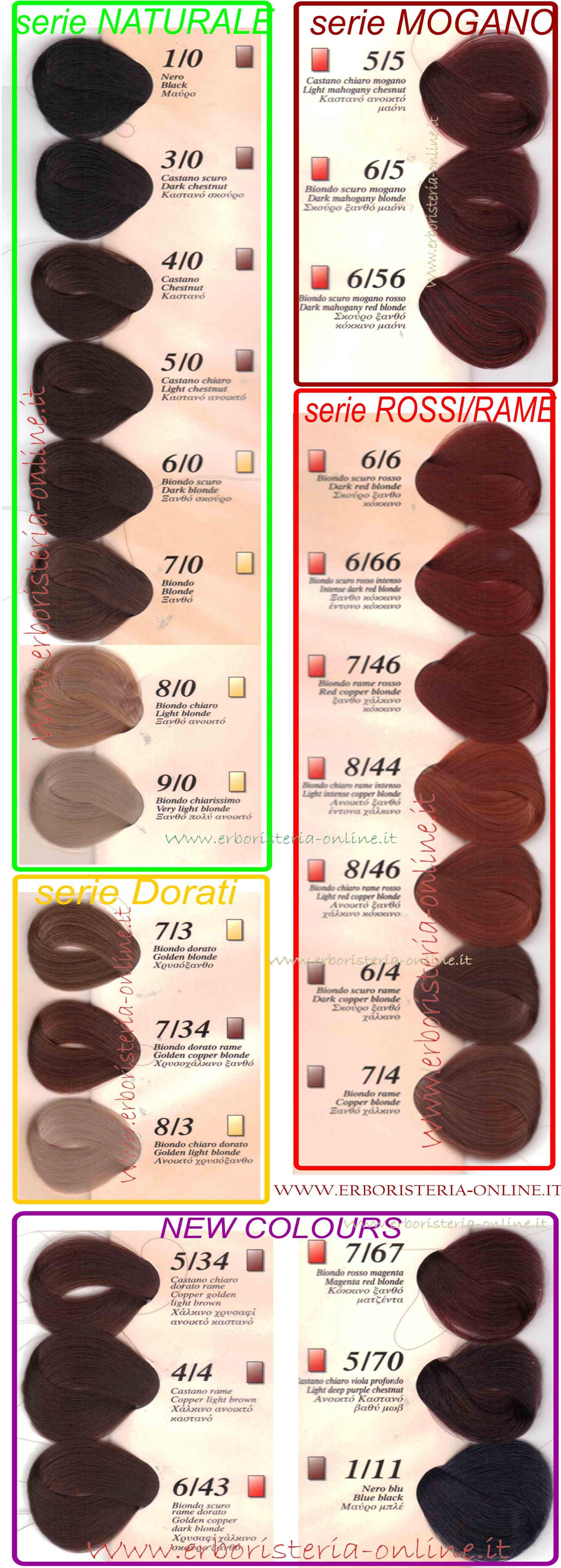 Erboristeria Online 44 Castano Rame Naturalcolor Homocrin