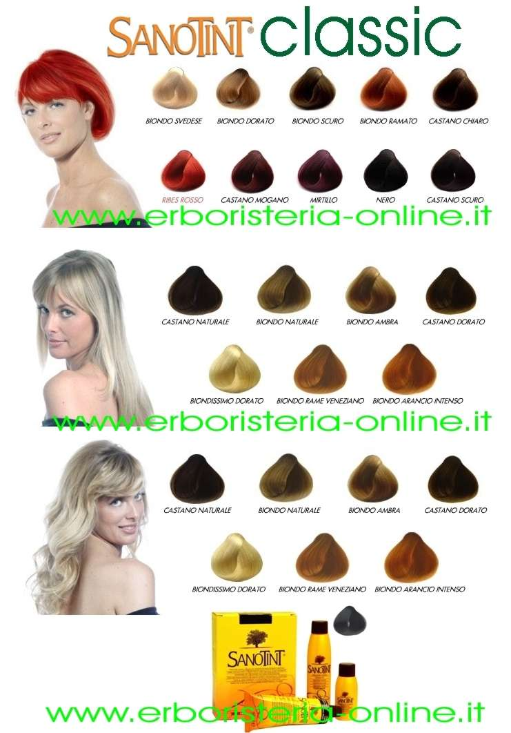 Erboristeria online tinta 24 ciliegia for Tinta per capelli sanotint